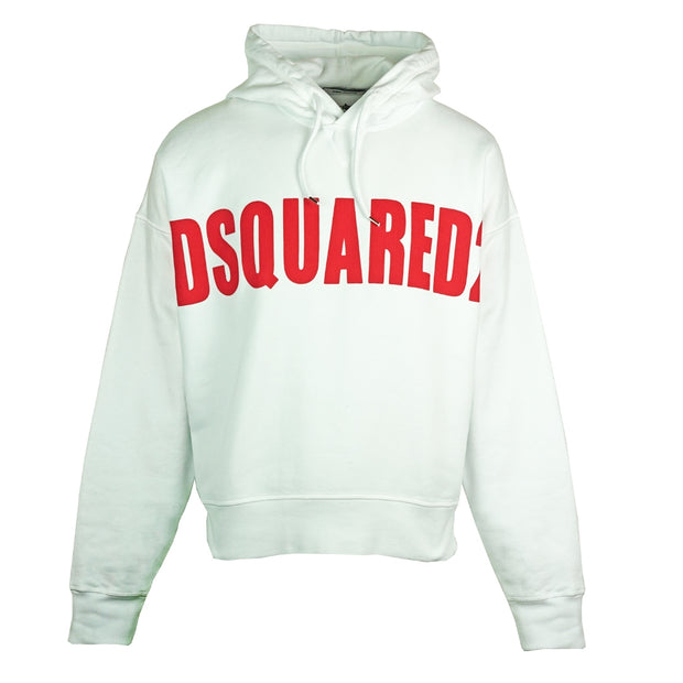 Dsquared2 Large Logo Oversize White Hoodie