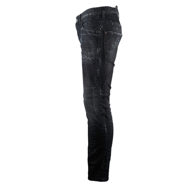 Dsquared2 Skater Jean Worn Faded Black Jeans