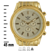 Load image into Gallery viewer, Gold Latice Bezel Executive Classic Mens Watch