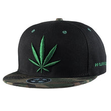 Load image into Gallery viewer, 1x Men's Reggae Hip Hop Baseball Cap Embroidered Flat brimmed Hat