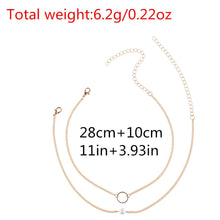 Load image into Gallery viewer, Fashion Women Jewelry Necklace Chain Two Piece Set Necklace  GD