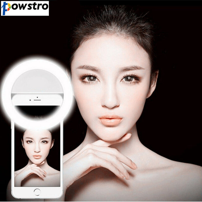 Universal Mobile Phone Selfie Light Night Selfie Ring Light Up LED Lamps For Selfie Enhancing Photography for iPhone 7 Samsung