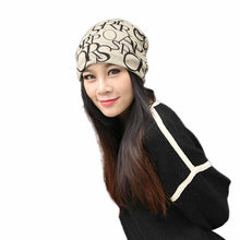 Load image into Gallery viewer, Classic Fashion Hip-Hop English Letter Multi Purpose Baggy Hat Unisex Scarf Beanie