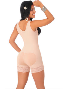Topmelon Fashion Women's Shapewear Sexy Butt Lifter Full Body Shaper Underwear with Zipper Tummy Control