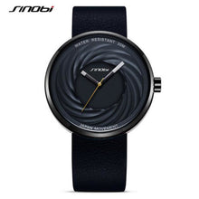 Load image into Gallery viewer, SINOBI brand fashion whirlwind men ladies watch leather unique watch