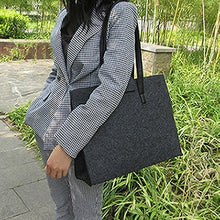 Load image into Gallery viewer, Sight focus brand grey felt tote bag shoulder bag lightweig fashion recycling totes woman bag vilten tas bolso gris mujer