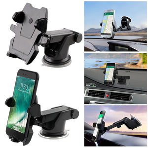 Universal Cell Phone Holder Glass Sucker Flexible Phone Holder Mobile Phone Stand for Samsung Sony LG HTC GPS