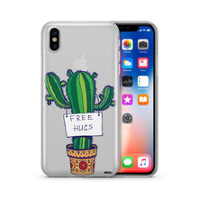 Load image into Gallery viewer, Free Hugs  - Clear TPU iPhone Case / Samsung Case Phone Cover
