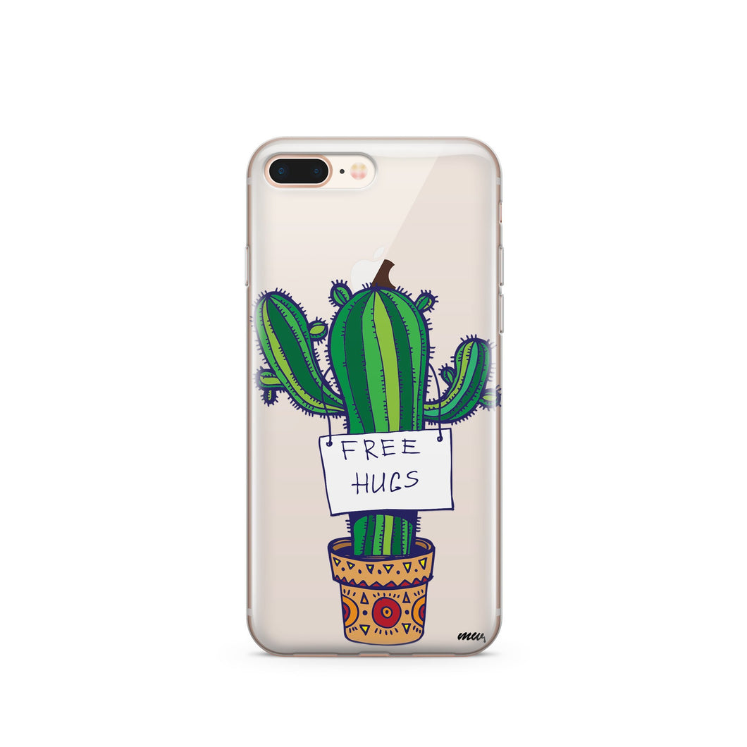 Free Hugs  - Clear TPU iPhone Case / Samsung Case Phone Cover