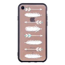 Load image into Gallery viewer, Arrowhead Feather Pattern Phone Case Soft Ultrathin TPU Case Embossment Varnish Design Drop-proof Phone Case Shell for iPhone