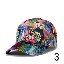 Load image into Gallery viewer, Personality Graffiti Printing Baseball Cap Unisex Adjustable Chapeau Sun Hat Hip hop Street Dancing Casual Cap