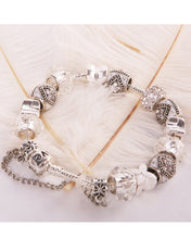 Load image into Gallery viewer, 2015 pop crystal white glass beads fit  bracelet women silver white silver bracelets iris bracelets  pandora charms