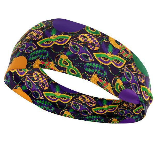 Mardi Gra Athletic Headband