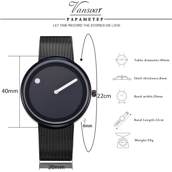 Unisex Fashion Mesh Watches Men's and Women's Watches Quartz Analog Watches gift
