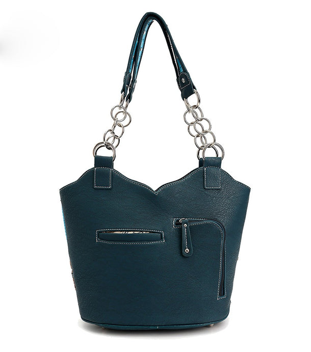 Turquoise Cowgirl Conceal and Carry Shoulder Bag Handbag