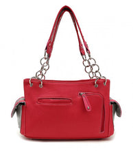Load image into Gallery viewer, Fuchsia Heart and Arrow  Shoulder Bag handbag