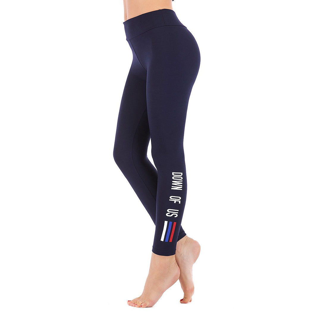 LEGGINGS LADIES/WOMEN COMFORTABLE SPORTS CASUAL COLOR NAVY