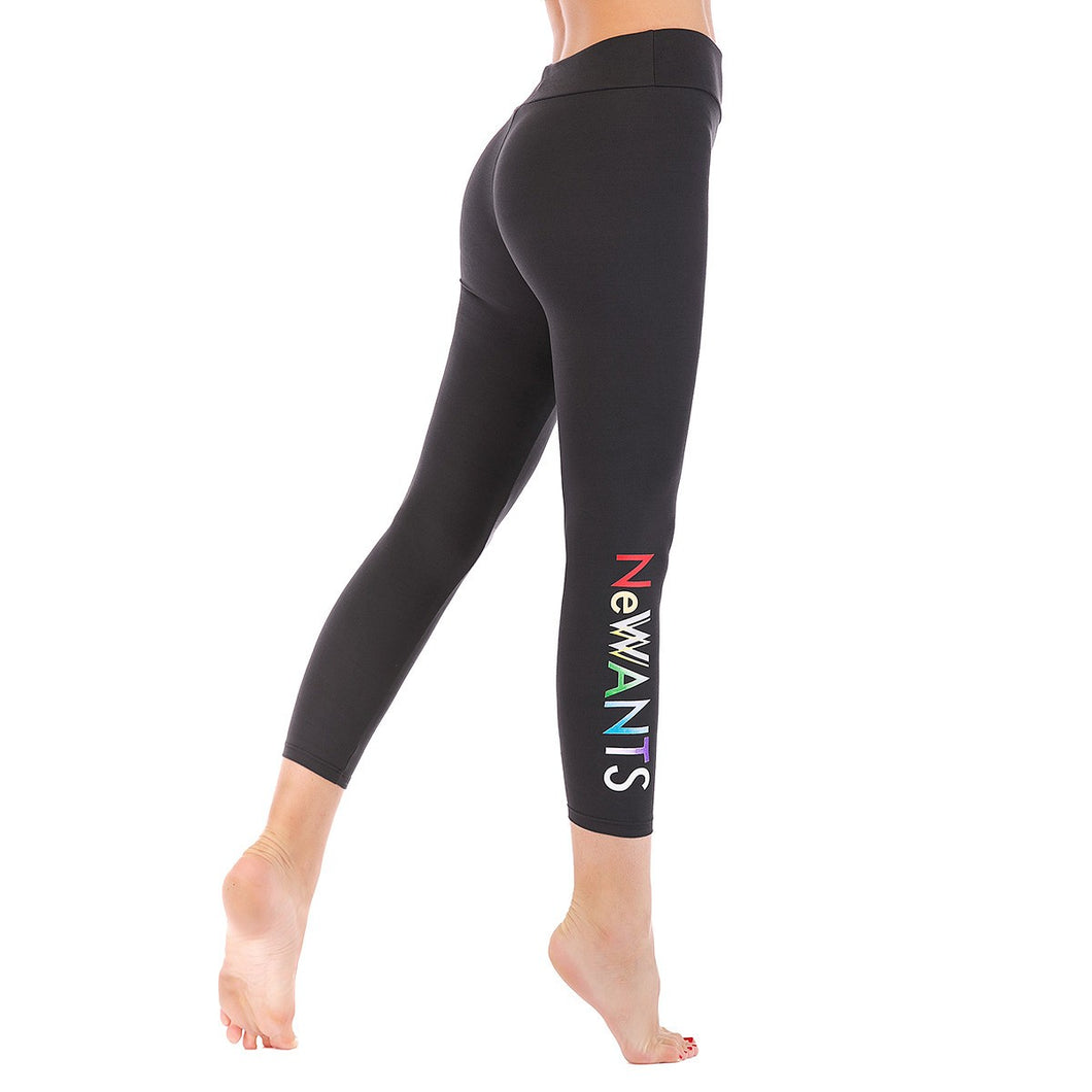LEGGINGS LADIES/WOMEN COMFORTABLE SPORTS CASUAL COLOR CHARCOAL
