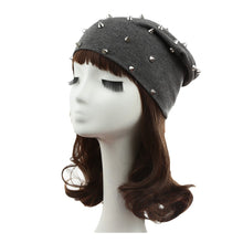 Load image into Gallery viewer, New Fashion Unisex Men Women Beanie Rivet Decoration Solid Design Hip-Hop Slouch Headwear Hat