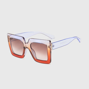 Vintage Square Sunglasses Women Black Pink Eyewear Clear for female Gradient Lens UV400 xx615