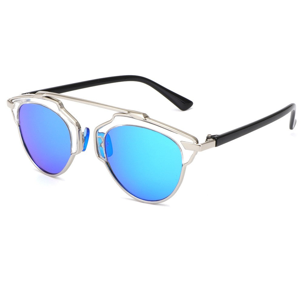 Cat Eye Sunglasses Women Mirror Vintage Eyewear Flat Top Summer Glasses Men UV400 Female oculos xx267