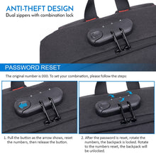 Load image into Gallery viewer, Anti-theft Skateboard Backpack Laptop Backpack College Backpack Travel School Bag with Lock and USB Port