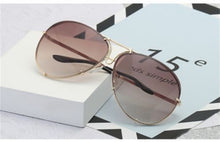 Load image into Gallery viewer, 6 Colors Oversized Aviator Sunglasses Women Luxury Shades Celebrity Sunglasses