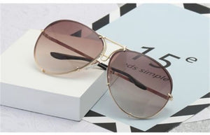 6 Colors Oversized Aviator Sunglasses Women Luxury Shades Celebrity Sunglasses