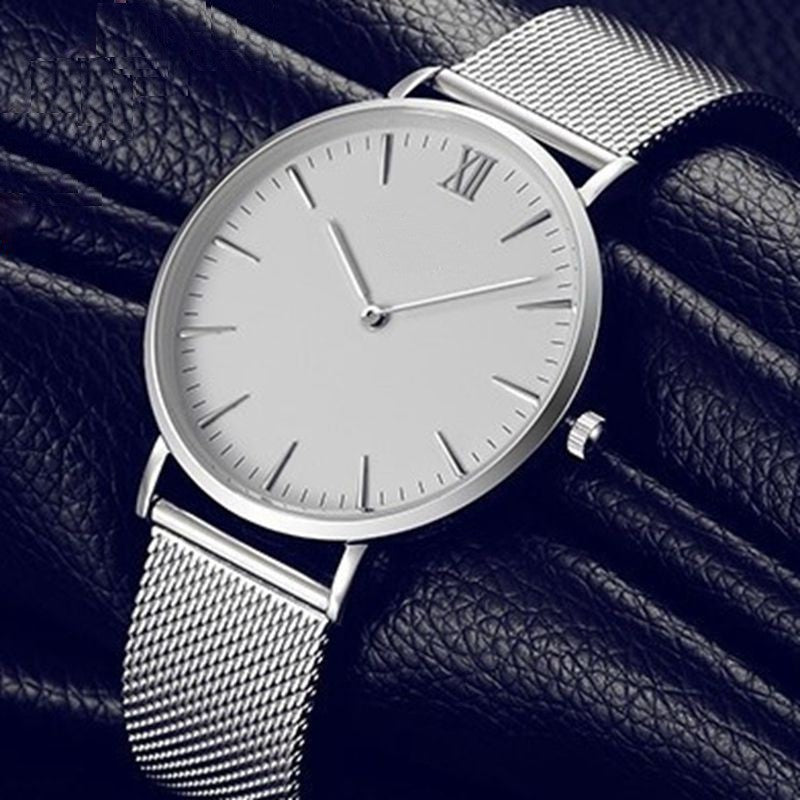 Watch Men'S Geneva Quartz Stainless Steel Watch