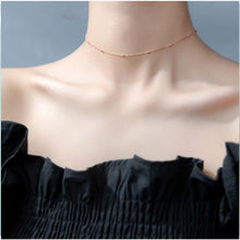 Load image into Gallery viewer, Choker Necklace for Women Flat Chain Choker Stylish Necklace Elegant Chain Sterling Silver Necklace