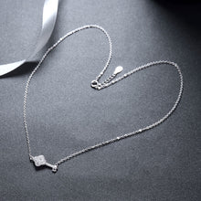 "Load image into Gallery viewer, Swarvski® Crystal Elements  ""the Key"" Sterling Silver Necklace"