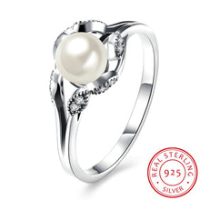 Load image into Gallery viewer, Sterling Silver Pandora Inspired Freshwater Pearl Ring