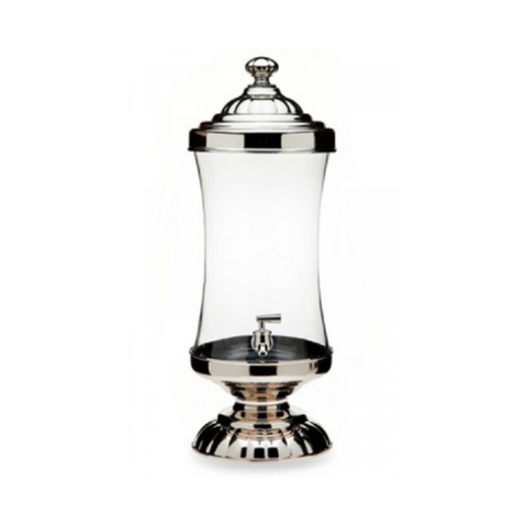 Glass & Chrome Beverage Dispenser