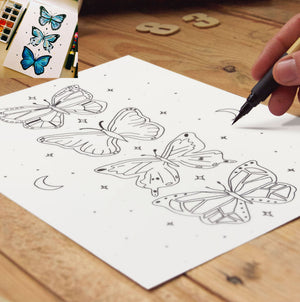 Butterlies Colouring Page | Digital Download