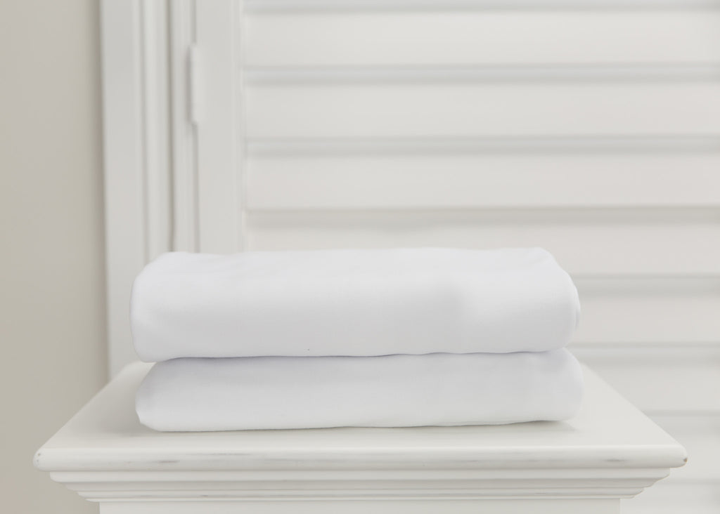 1 piece fitted cot sheet - Crisp White