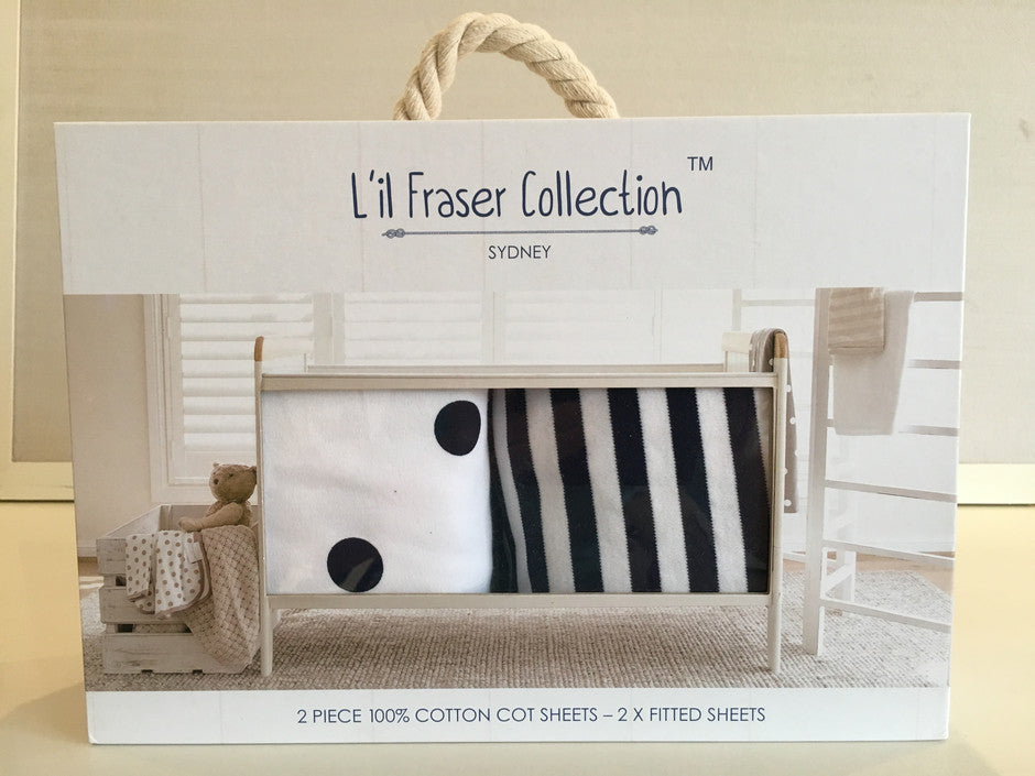 Lil Fraser Collection Cot Sheets