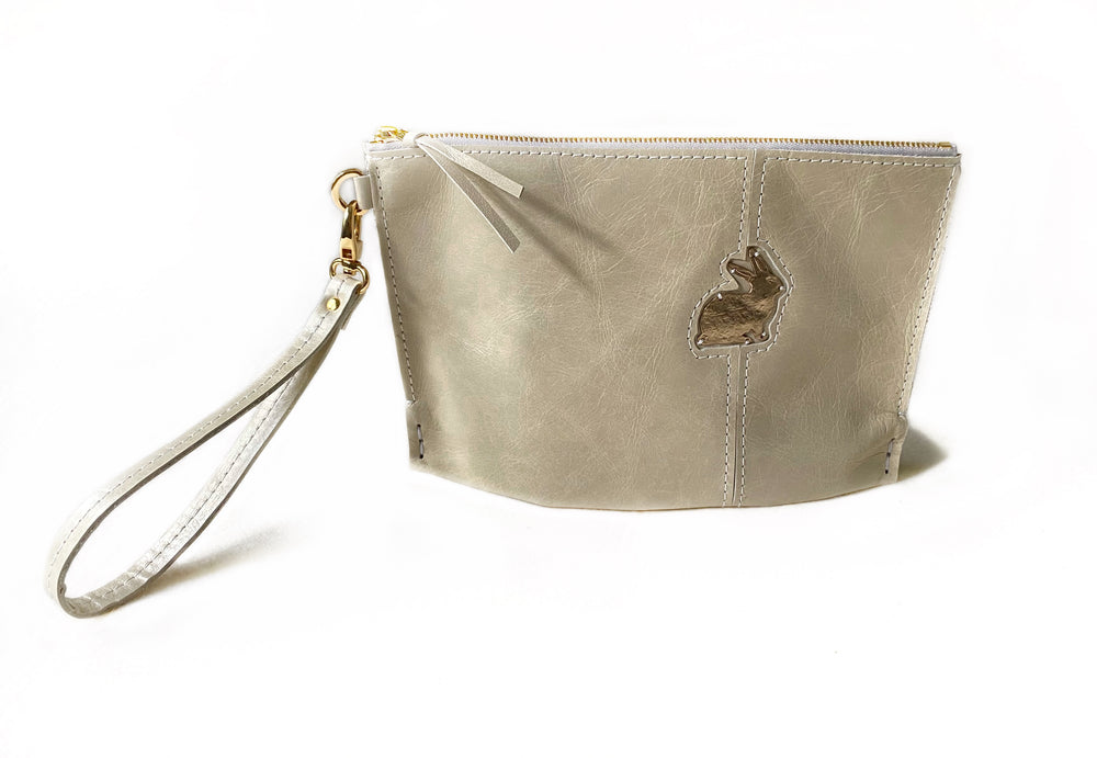 Crema Bunny Small Clutch Front