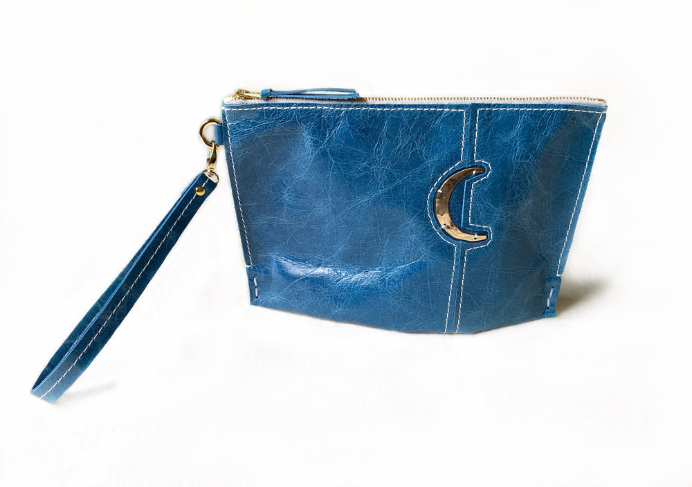 Lagoon Moon Small Clutch Front