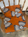 Burnt Orange African Head Wrap- L