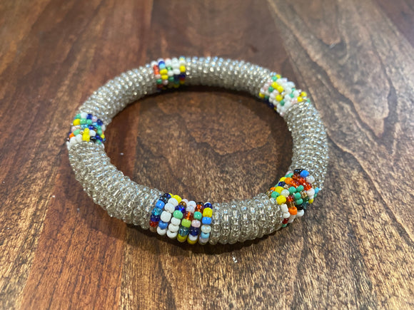Multi Colored Beaded African Bracelet