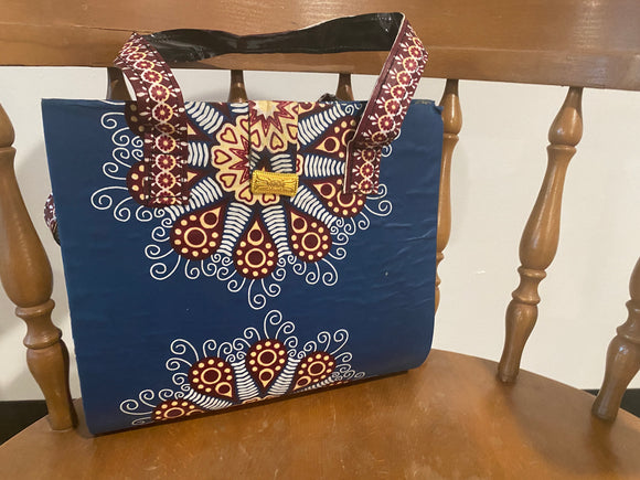 Blue Design African Purse