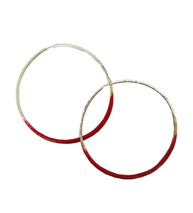 Big Hoop Silver Color Earrings