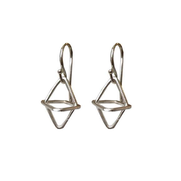 Rhombi 3D Cross Earrings