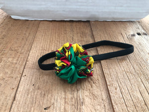 Green, Yellow, Red and Black Stretchy African Head Band