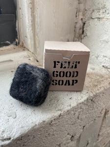 Activated Charcoal Felted Soap