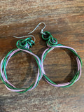 Twisted Aluminum Hoop Earrings