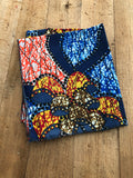 Blue, Red, Yellow and Orange Head Wrap