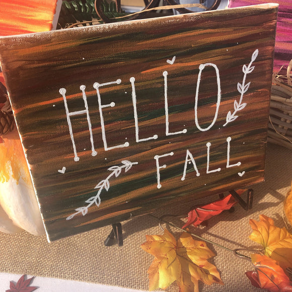 Hello Fall Painting