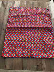 Red, Blue and Yellow Circle Head Wrap