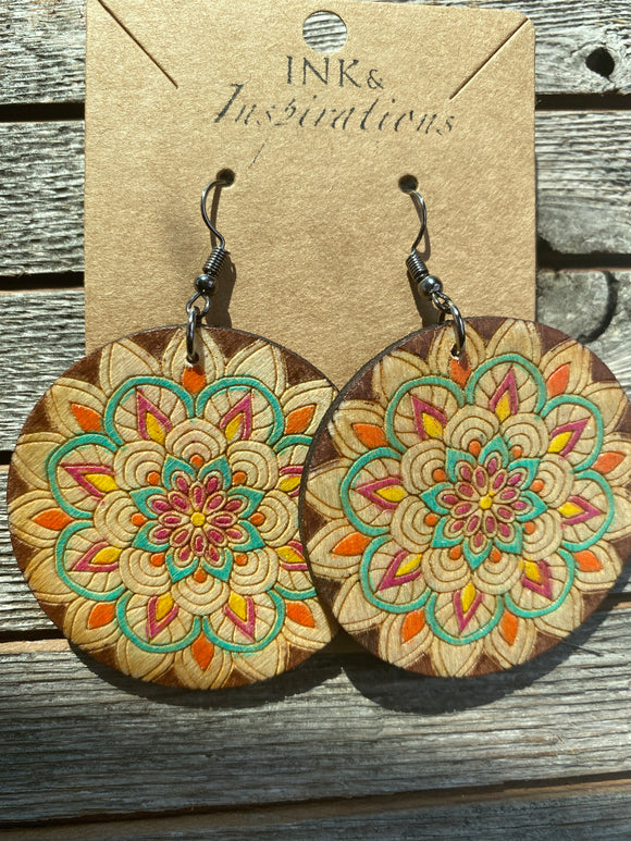 STAR MANDALA DANGLE Earrings